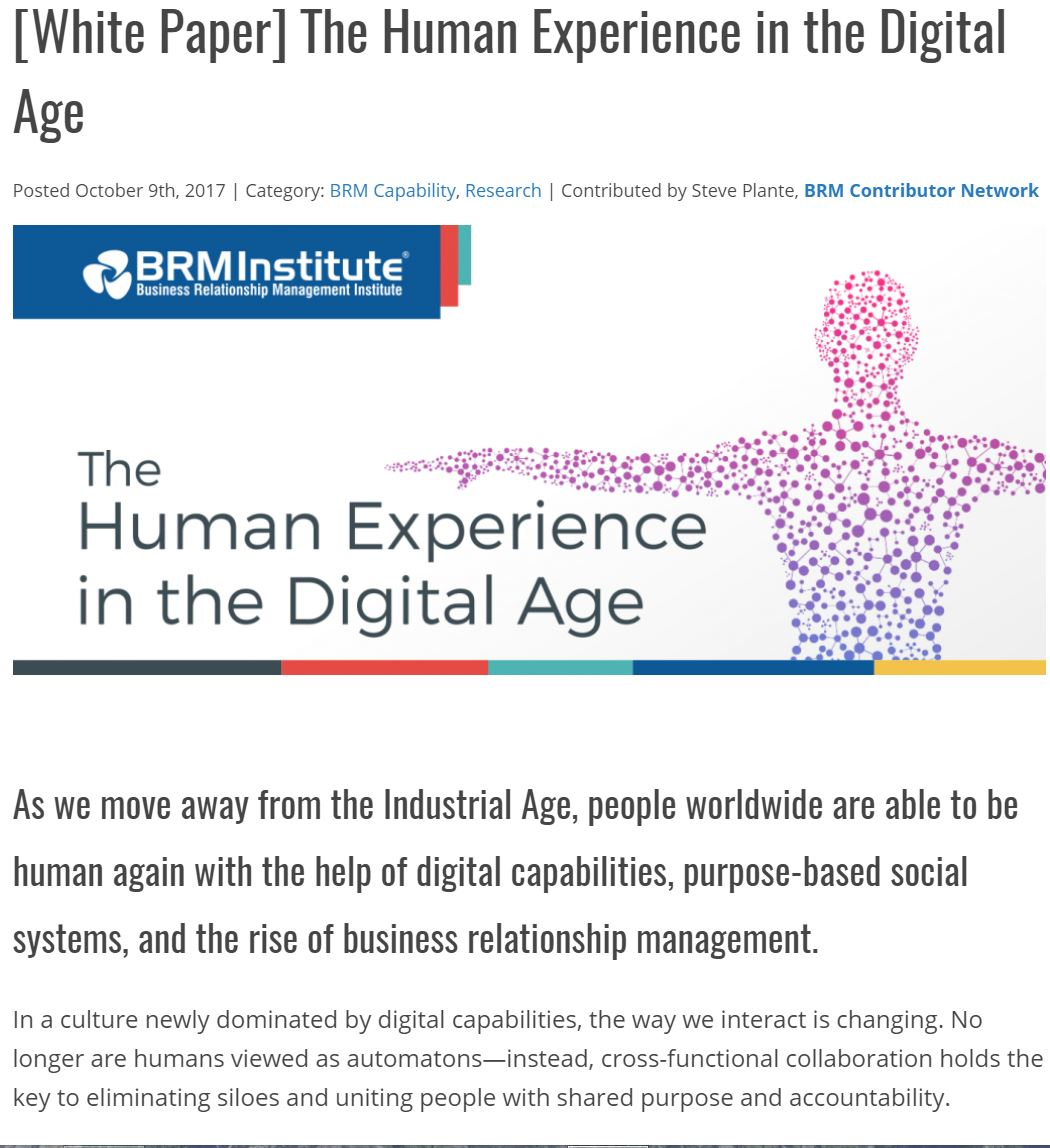 The Human Experience in the Digital Age